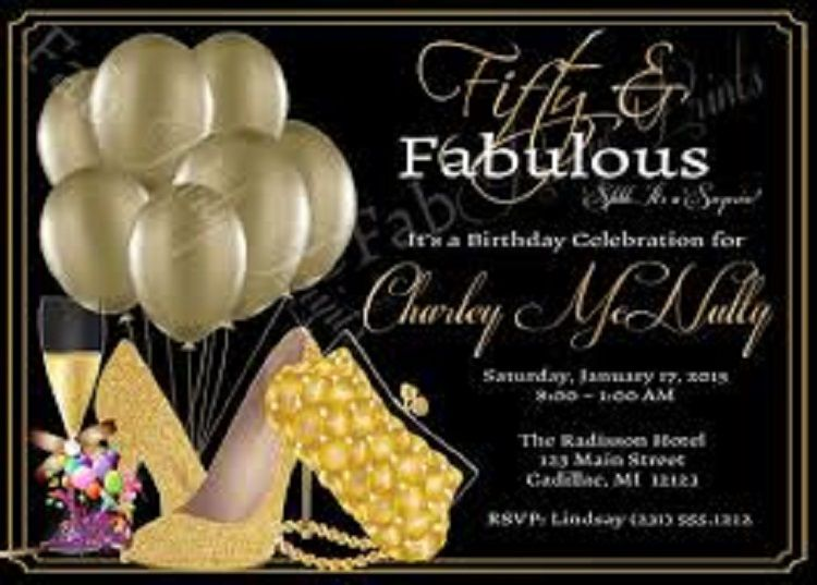 ladies 50th birthday invitations uk