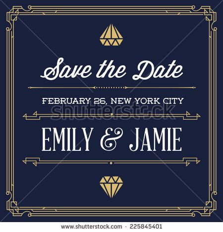 Great Gatsby save the date Invitation Templates Gatsby invitation - fresh birthday invitation video templates