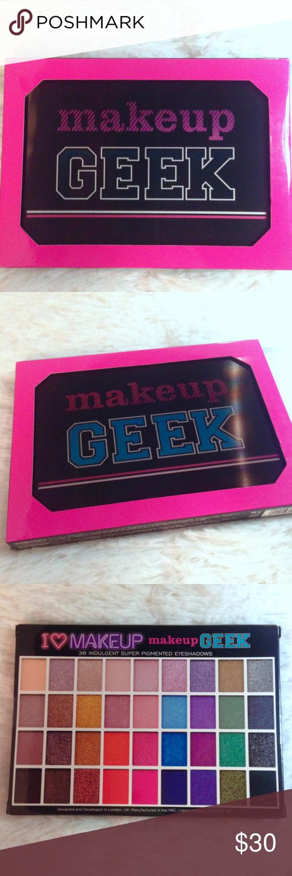RARE! I Heart Makeup makeup GEEK Eyeshadow Palette RARE I