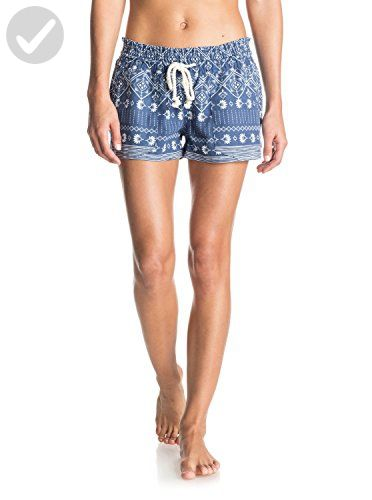 9e7bd4aeab Roxy Juniors Oceanside Short, Deep Ocean Combo/Blue Print, Medium - All  about women (*Amazon Partner-Link)
