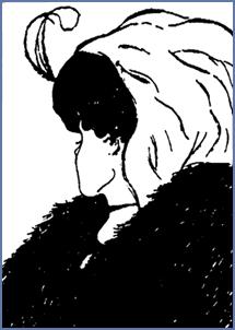 o queixo da princesa é o nariz da velha, o pescoço da princesa é a boca da velha.