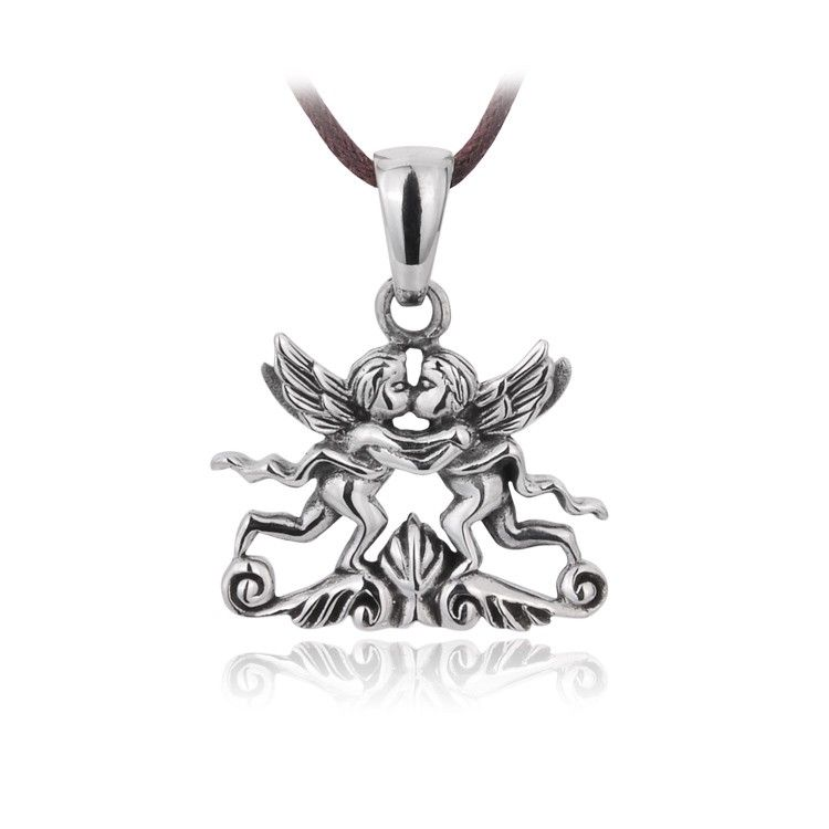 Angel S Kiss 925 Sterling Silver Pendant Sterling Silver