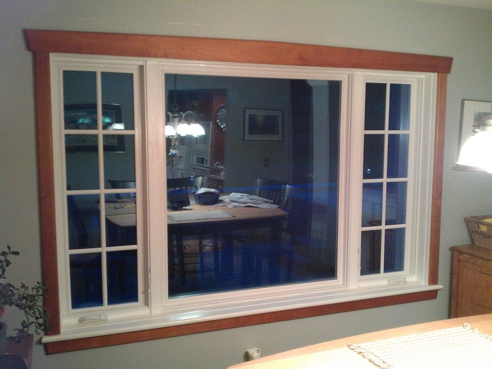 Don T Like Trim But White Window Natural Wood Trim Oak Trim White Window Trim White Windows