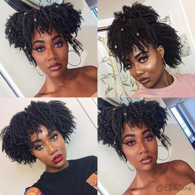 Super Easy Instagrambaddie Hairstyles Vid On My Channel Done On My Type 4 Hair In Its Coily S Coily Natural Hair Natural Hair Styles Natural Hair Inspiration