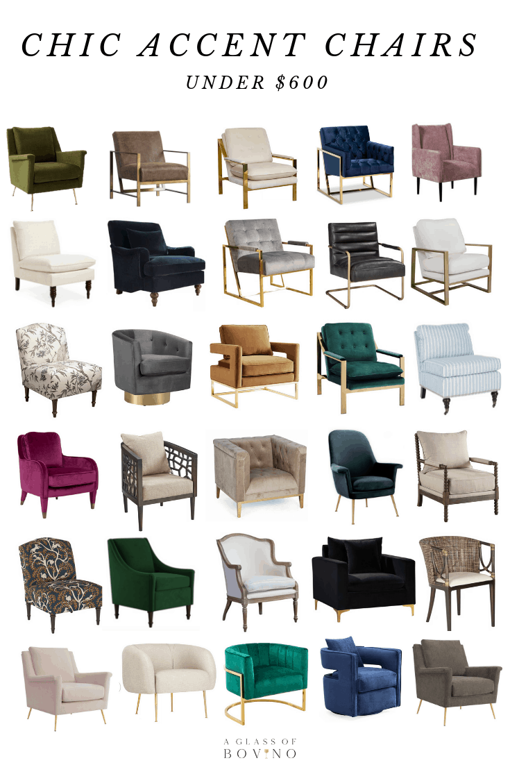 30 Chic Accent Chairs Under 600 Â A Glass Of Bovino Chic Ac