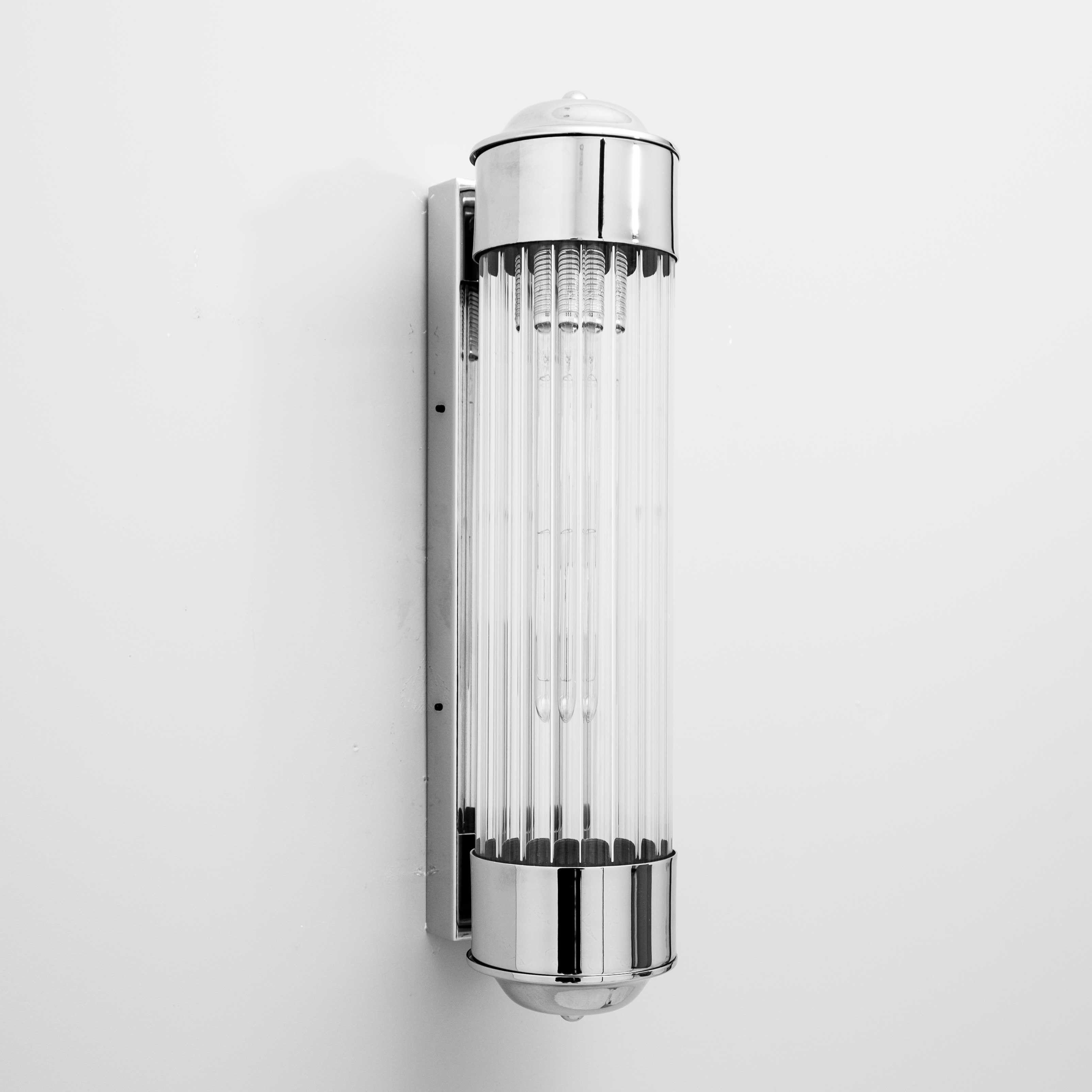 Aplique De Pared Tubo Cristal Rayado Metal Cromo Con Imagenes Apliques De Pared Cristales Cromos