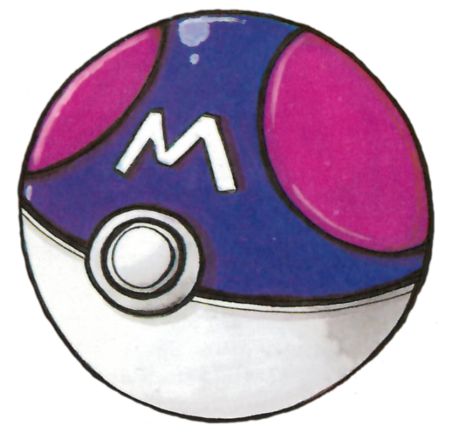 RG Master Ball From The Official Artwork Set For Pokemon Red Green On GameBoy Retrogaming Pokemondungeon Version