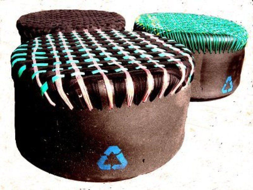 Puff De Neumaticos Trendy Unique Como Reciclar Llantas Ideas On  # Muebles Con Neum?ticos