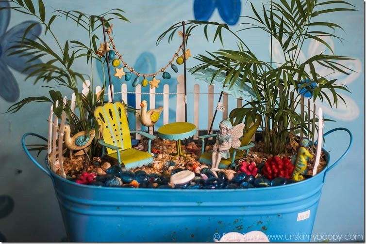 Gnome In Garden: Amazing Fairy Garden Ideas-beach Themed