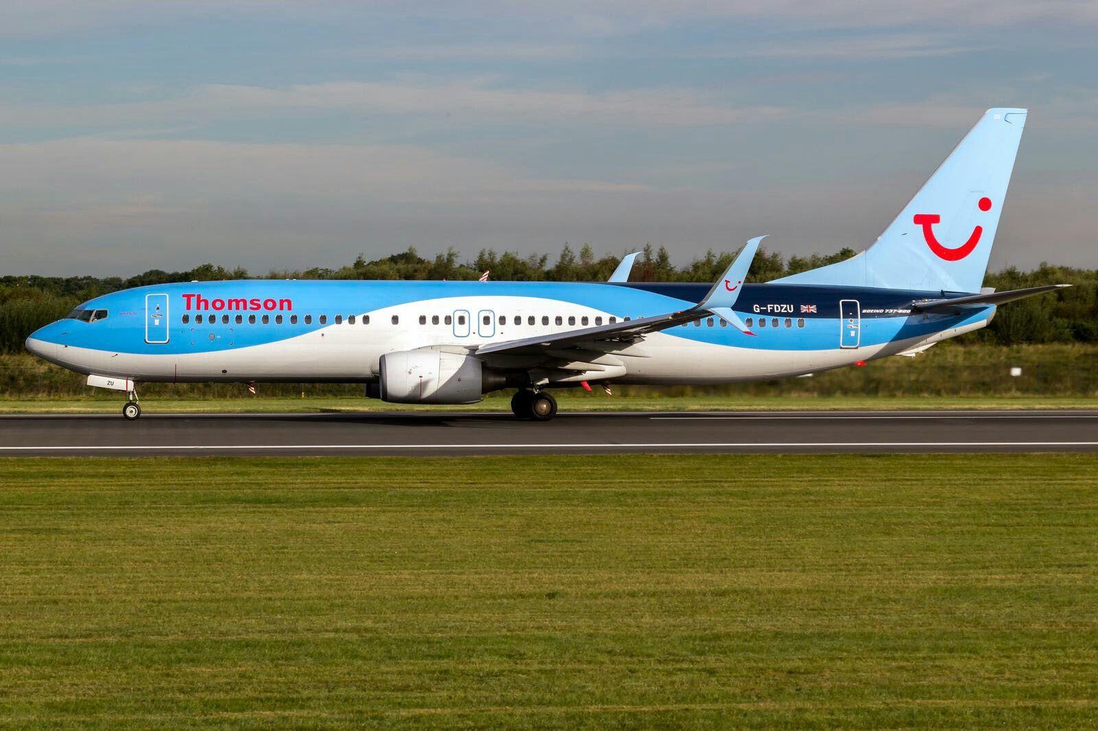 Thomson Airways Boeing 737800 GFDZU Aeronave