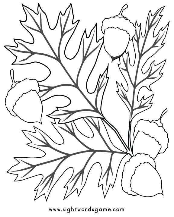 Fall-Coloring-Page-4 | Hojas | Pinterest | Colores, Dibujos para ...