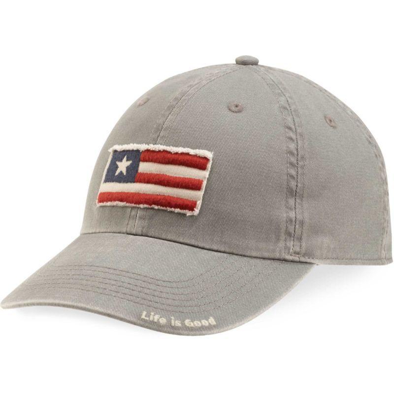 Life is Good Men s Tattered Three Stripe Flag Chill Hat 8cc834e843d5