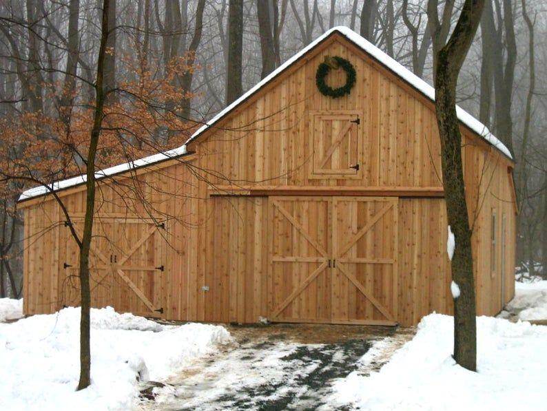 41 Small Barn Designs - Complete Pole-Barn Building Plans