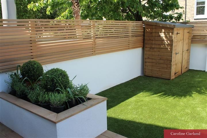 Clean lines and low maintenance garden in South London