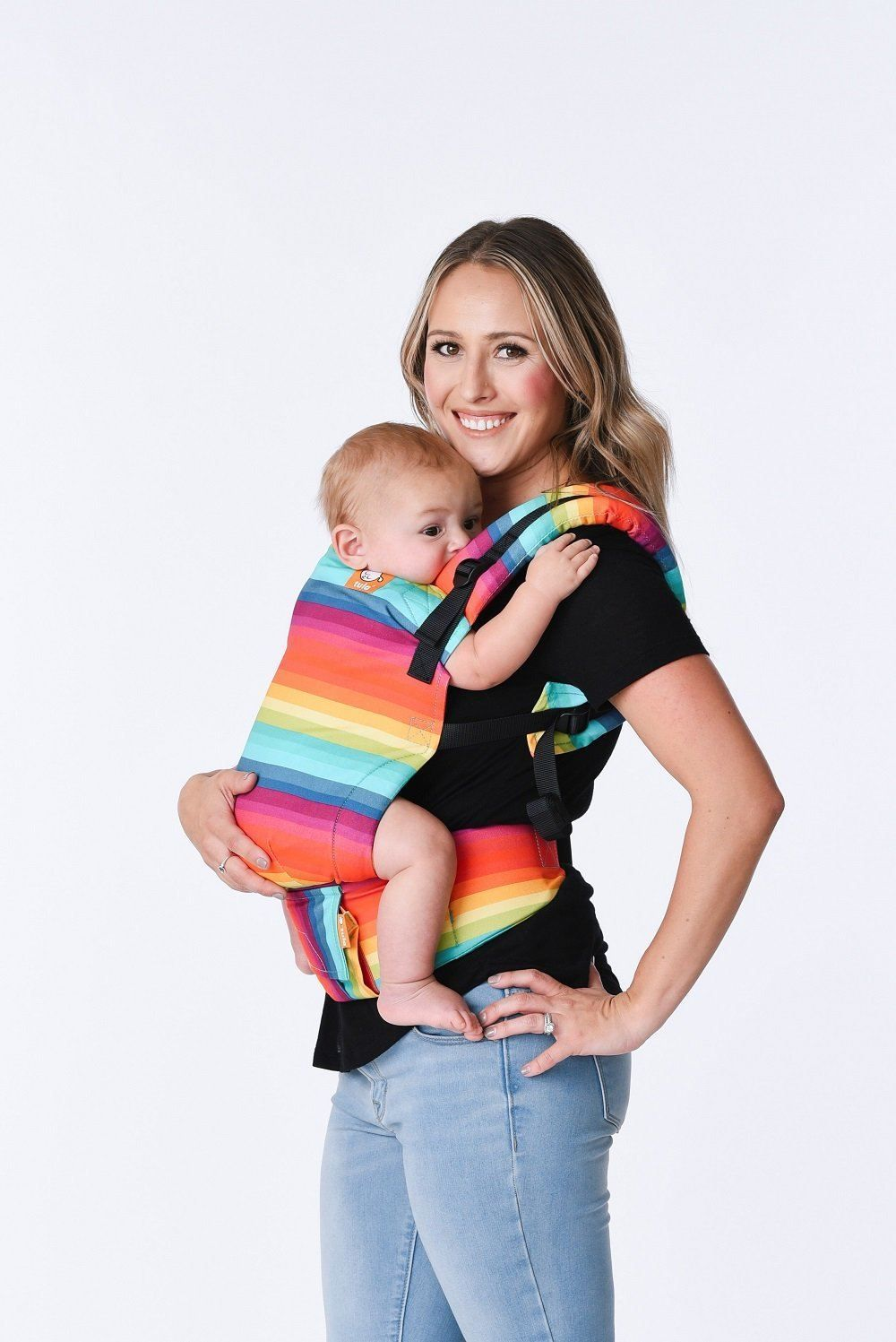5cf7ed6590b After the Storm - Tula Free-to-Grow Baby Carrier - Baby Tula. Our bold  technicolor Tula print is inspired by a rainbow on a cloudy day.