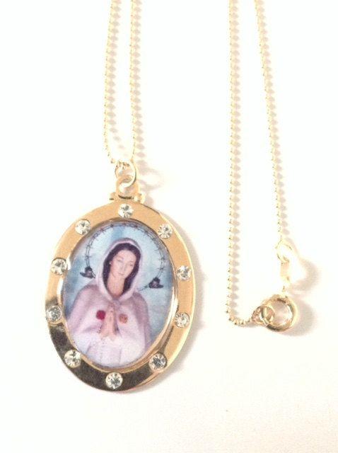 Virgin mary gold necklace rosa mystica virgin mary gold pendant mary virgin mary gold necklace rosa mystica virgin mary gold pendant mary the mystical rose medal catholic aloadofball Images