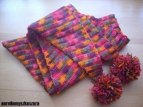 Jak Wykona Szalik Baktus Szydeko You Tube Crochet Tutorials
