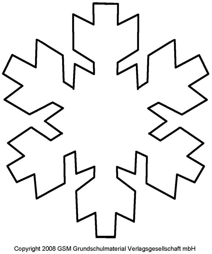 Schablone für Schneeflocke - 10 - Medienwerkstatt-Wissen