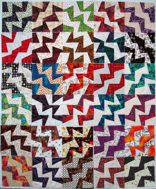Exuberant Mix Of Colors And Patterns: Exuberant Color: Fractured 2 - 30 Blocks.........
