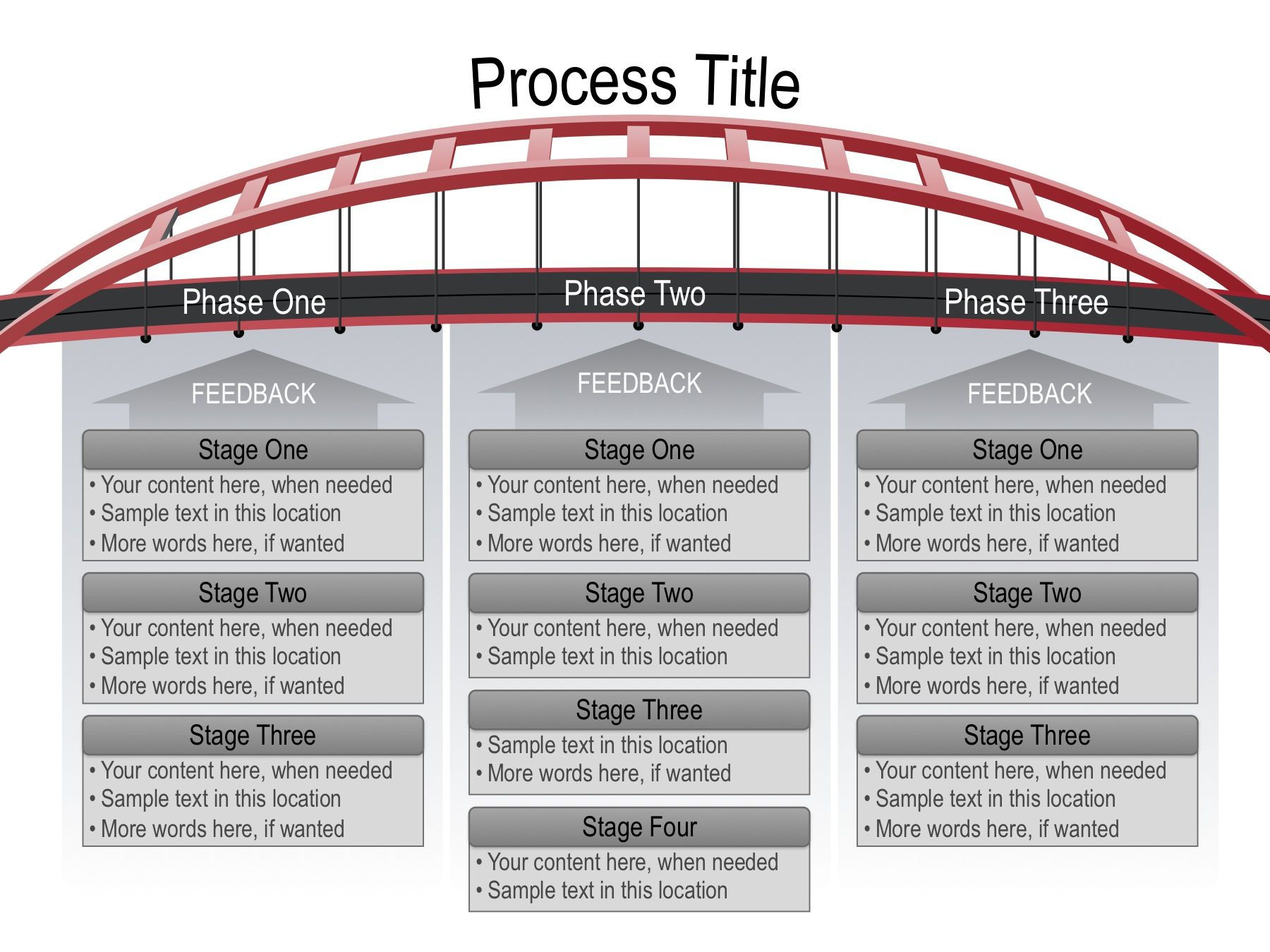 Use this fully editable Bridge Graphic as a visual metaphor