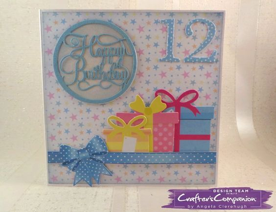 6 X 6 Card Made Using Sara Signature Birthday Party Collection