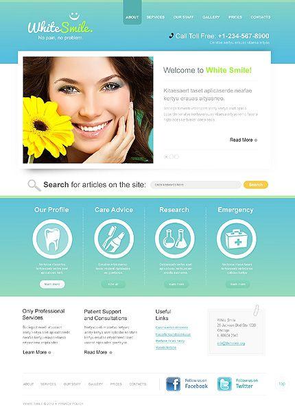 Dentistry WordPress Theme | Beautiful web design and Ui design