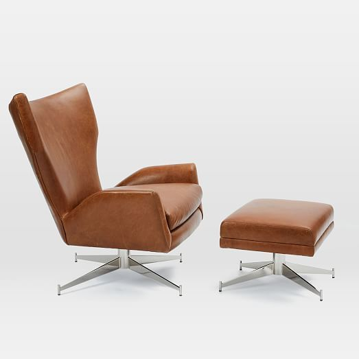Our Hemming Leather Swivel Armchair Takes Inspiration From The Streamlined  Style Of Vintage Danish Designs.
