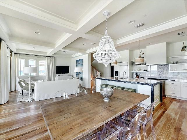 Open Plan Kitchen Dining Room Designs Design Pictures Living Floor