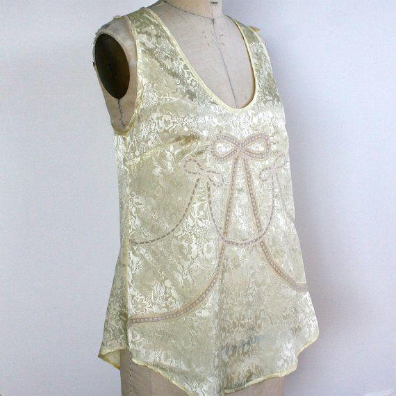 Lingerie Top Jacquard Lace Camisole  Tank / par HoneyCoolerHandmade, $150,00