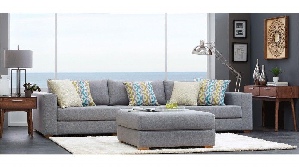 Casper 3 Piece Fabric Lounge   Lounges   Living Room   Furniture, Outdoor U0026
