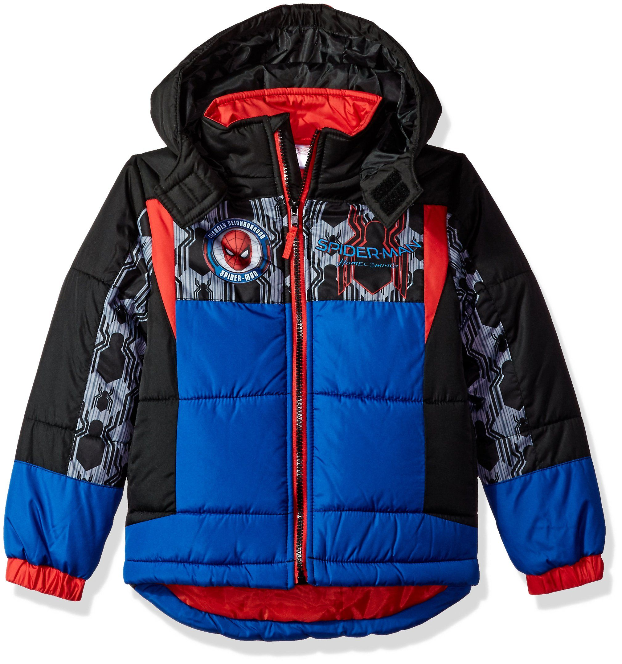 d2c6780a8c98 Marvel Little Boys  Big Spiderman Homecoming Puffer Jacket 5
