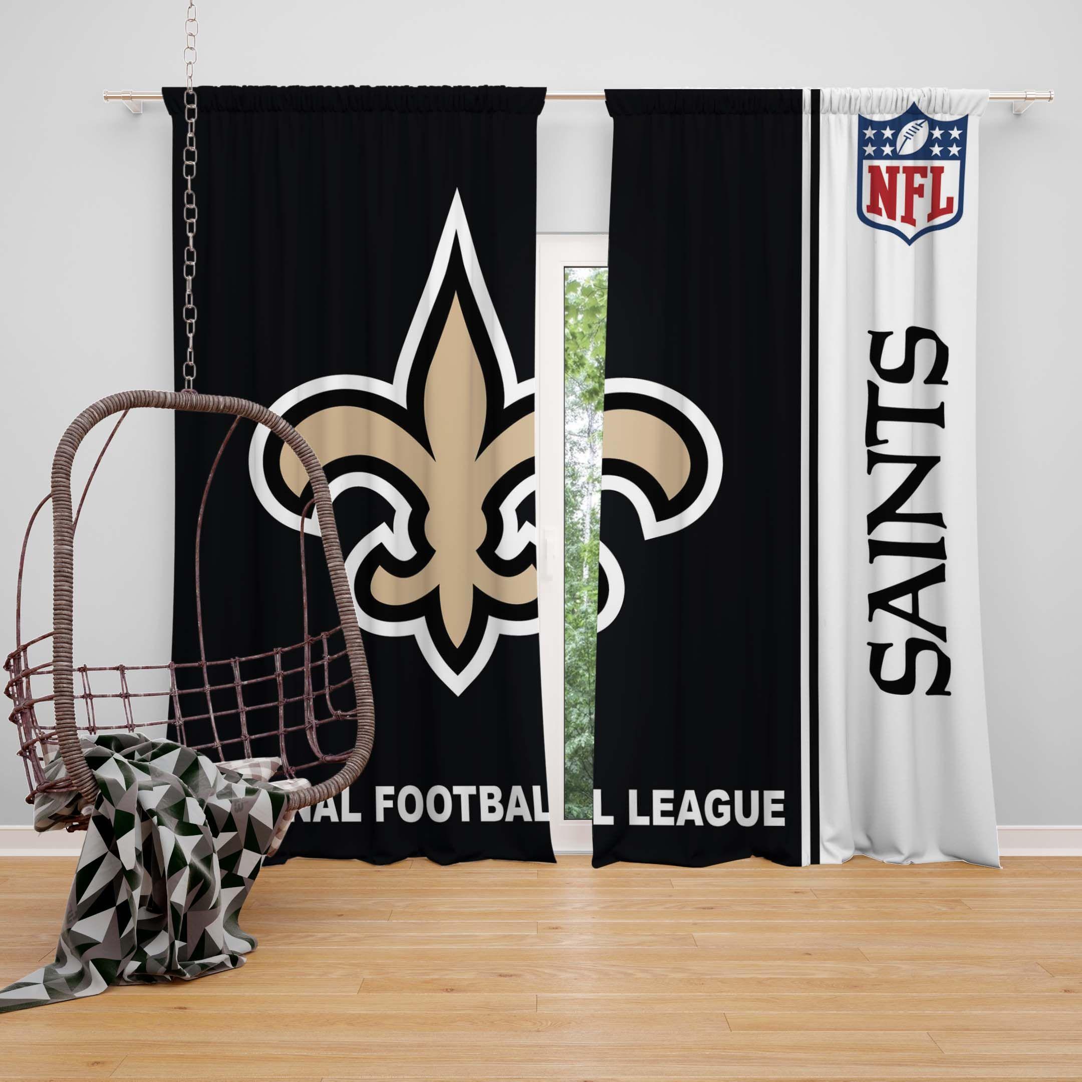 Nfl New Orleans Saints Bedroom Curtain New Orleans Saints New