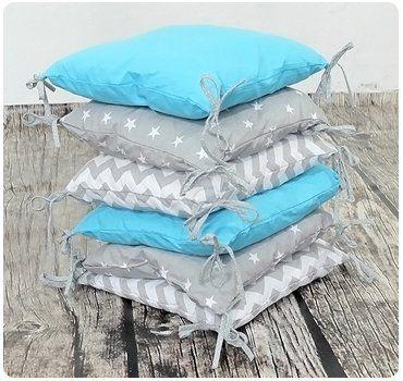 Baby Nestchen Kissen Bettumrandung Babybett Bettnestchen Kopfschutz Handmade