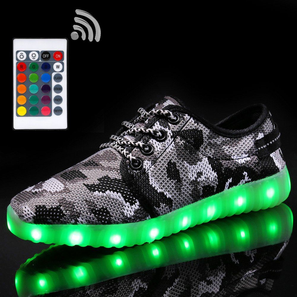 Believed LED Light Up Shoes USB Charging Glowing Sneakers for Kids Boys Girls