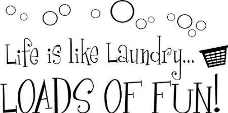 Amazon.com: Life is like laundry loads of fun wall art wall sayings: Home Improvement