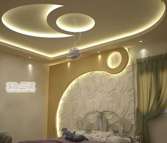 modern gypsum board design for false ceiling and wall for bedrooms