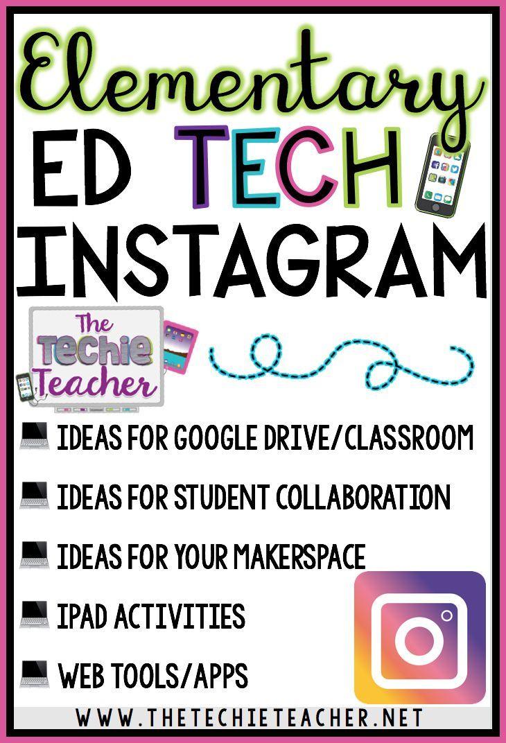 Follow The Techie Teacher S Instagram Account For Educational