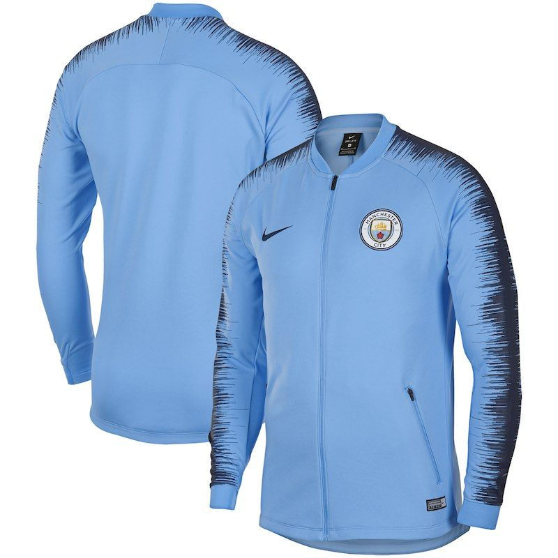 32b4df5ccb1 Manchester City Nike 2018 19 Anthem Performance Jacket – Light Blue ...