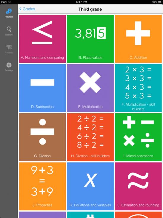 IXL Math Practice Elementary School Math Practice iPad