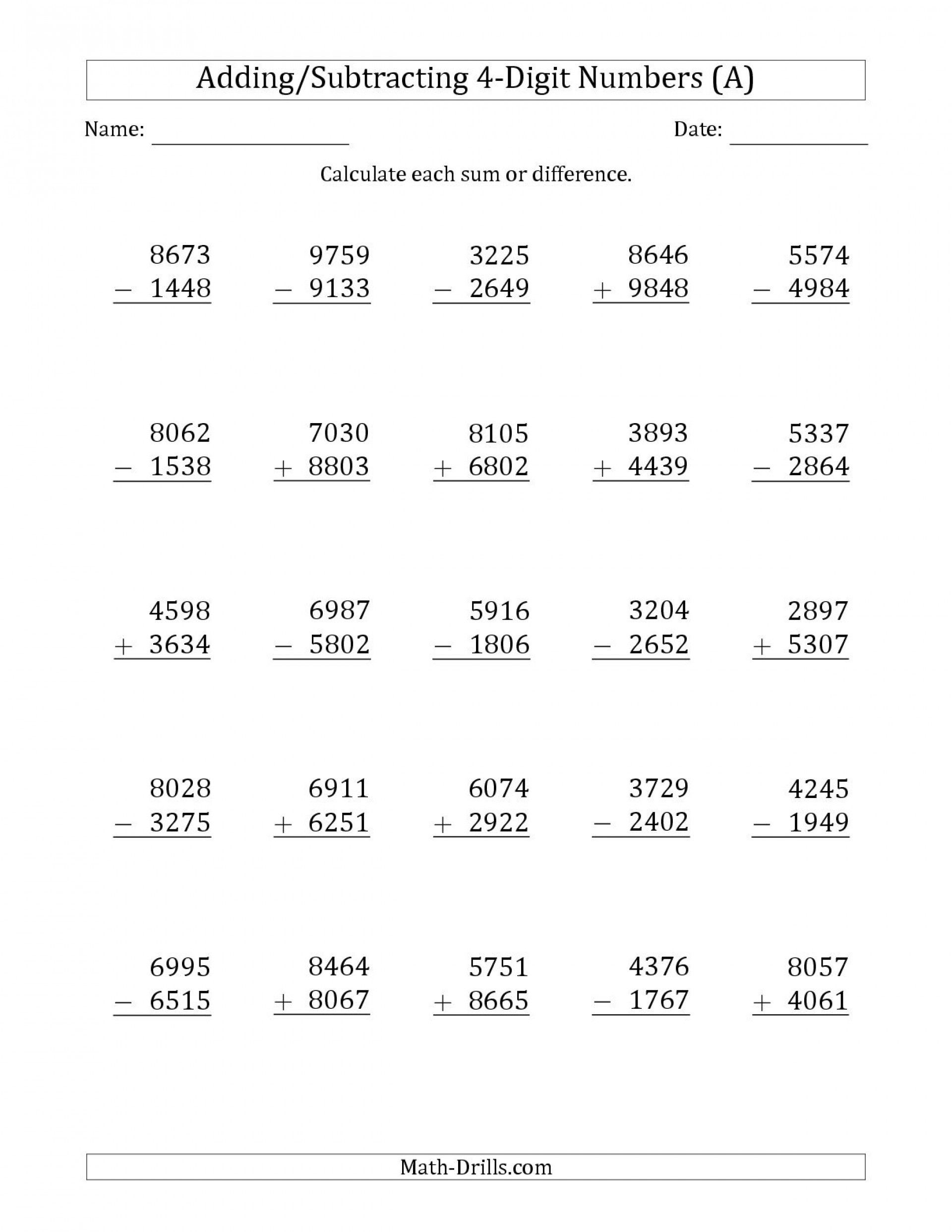 5 Free Math Worksheets Third Grade 3 Addition Add 3 Digit Numbers I…    Addition and subtraction worksheets [ 2484 x 1920 Pixel ]