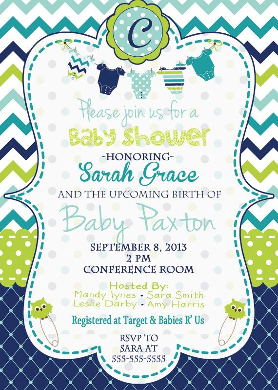 Baby Boy Baby Shower Invitation Baby Shower Invitation Blue