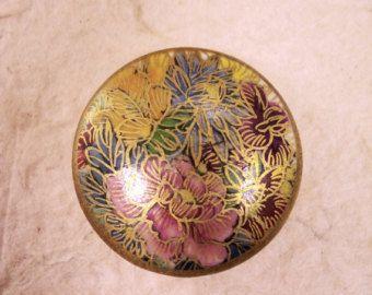Satsuma button ceramic buttons antique button JAPANESE button porcelin buton FLOWERS vintage