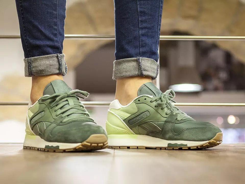 Reebok Gl 6000 Color Fade Dark Sage Silvery Green Glow 205 00 Reebok Sneakers Sneakers New Balance Sneaker