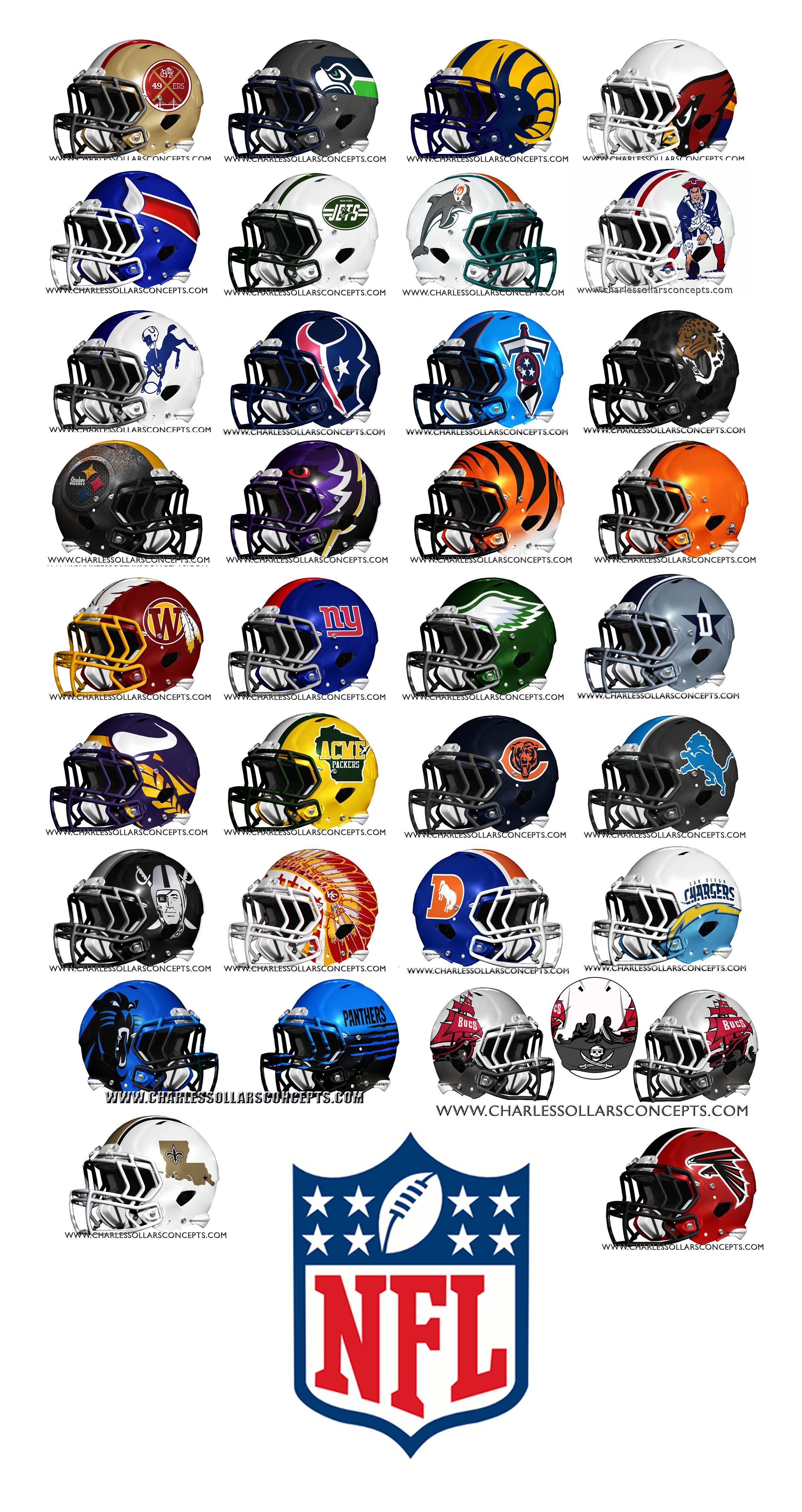 NFL Concept Helmets  1c97a6588