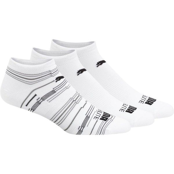 Puma Superlite Men's No Show Socks (3 Pack) (21 SGD) ❤ liked