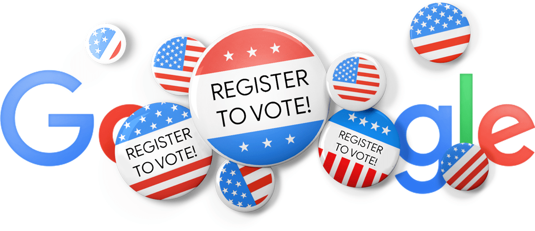 Today S Google Doodle Encourages Americans To Register To Vote Before The Midterms National Voter Registration Day Voter Registration Google Doodles