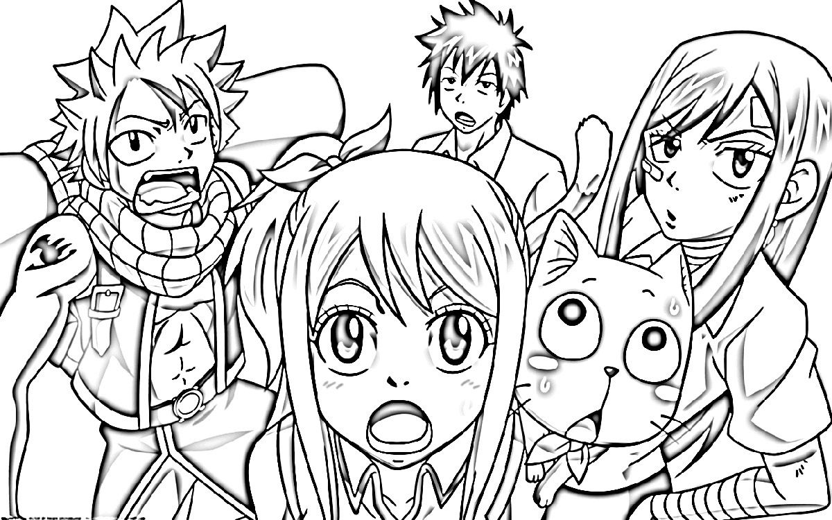 fairy tail color pages free | K5 Worksheets | Coloring Pages for ...