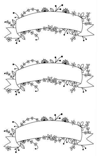 Printable Floral Banner Aufkleber  Bullet Journal  Planer  Ausdrucke  Flora  Bullet journal