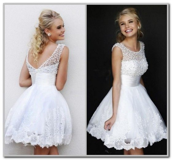 White Graduation Dresses For 8th Grade | wedding | Pinterest ...