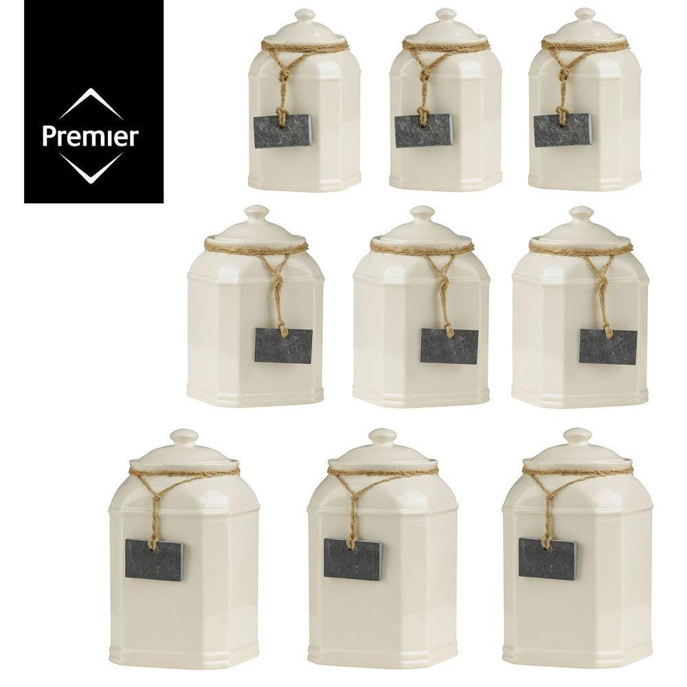 Sage Green Kitchen Storage Jars: Storage Jars Tea Coffee Sugar Biscuits Pasta Rice